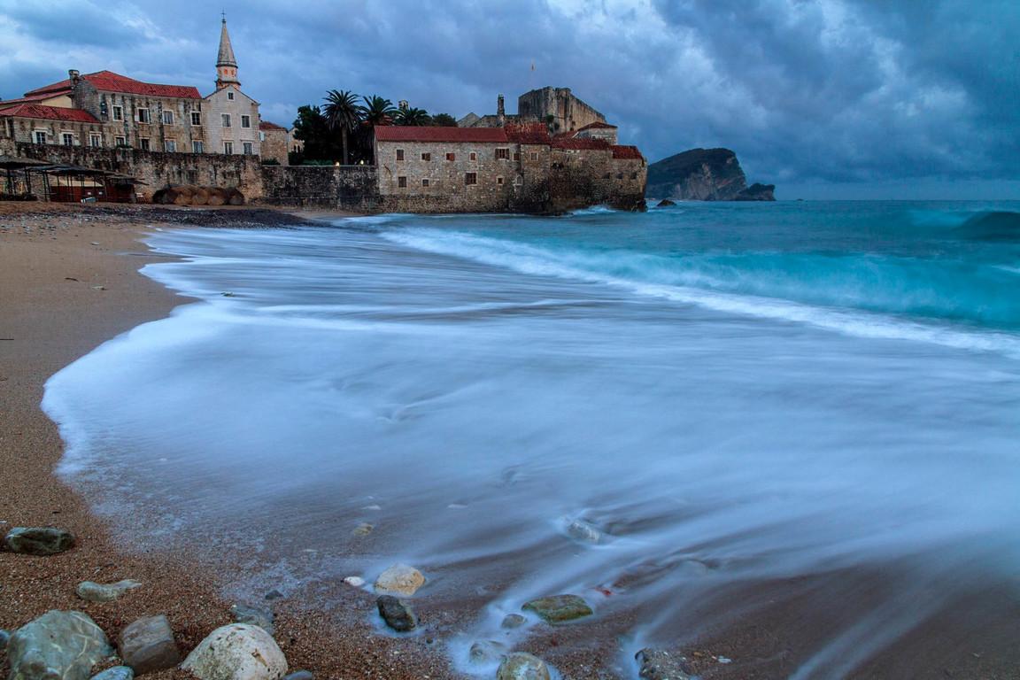 Sand beach in Montenegro